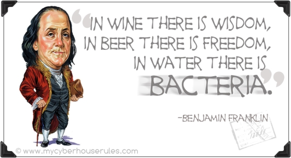 Benjamin Franklin and Drinking