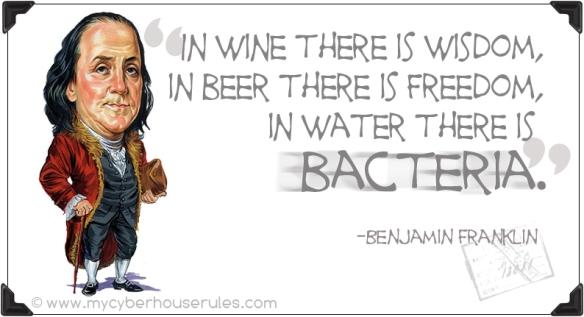 Benjamin Franklin and Drinking