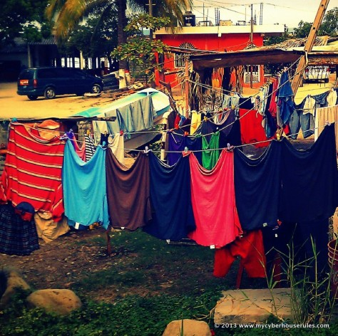 Hanging laundry in Mexico
