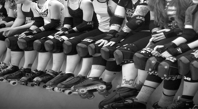 playing roller derby is something performed by awesome women