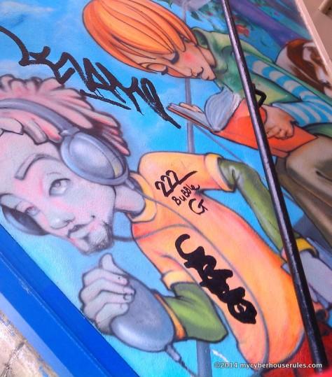 graffiti on top of graffiti