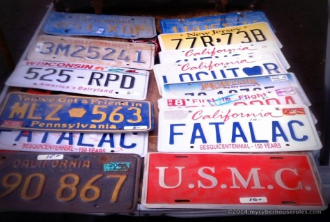 used california license plates