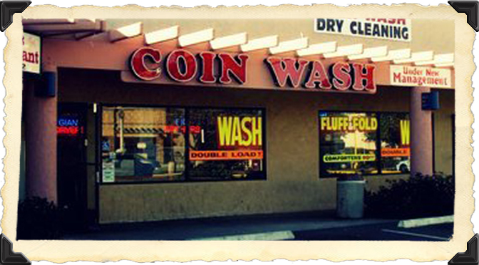 friday night at the laundromat