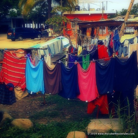 hanging clothes in Mexico